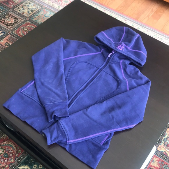 Lululemon full zip purple jacket size 10